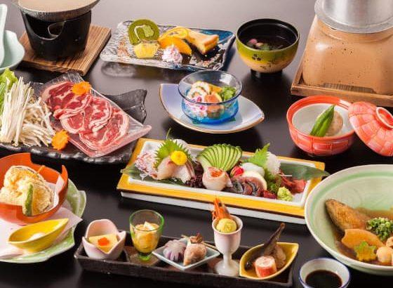 当館人気No.1!】島根の旬魚五種の造りと山女魚&猪会席コース